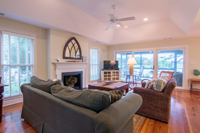 Living Room with fireplace Lands End Sea Pines