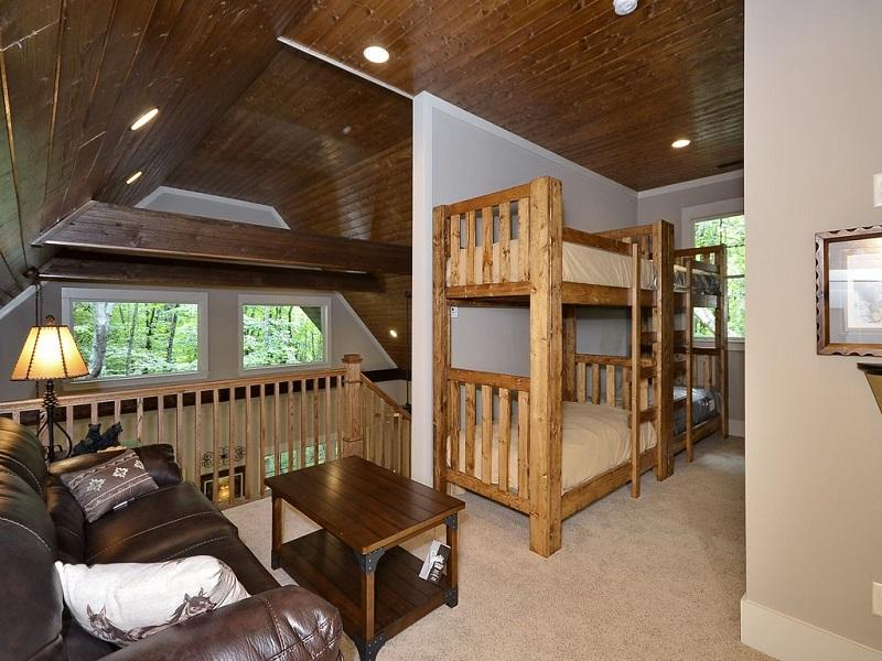 Loft lounge and Bunk Beds