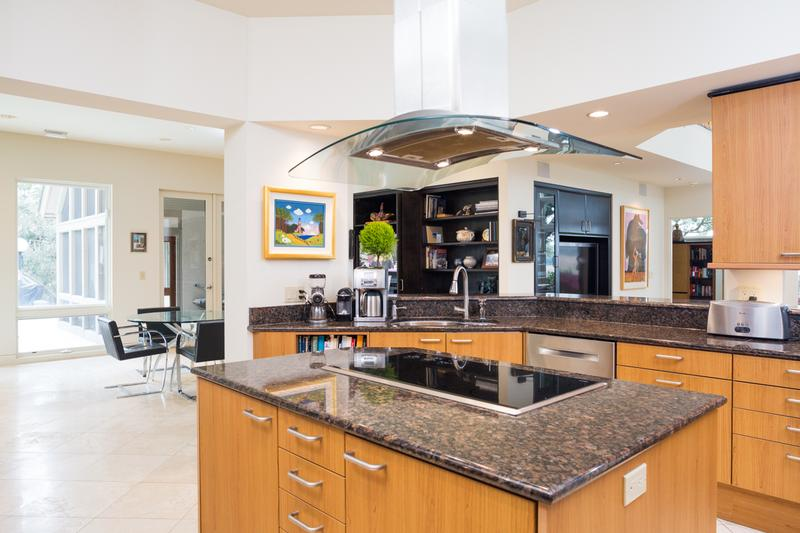 Distinctive Poggenpohl custom kitchen with the finest appliances and finishes