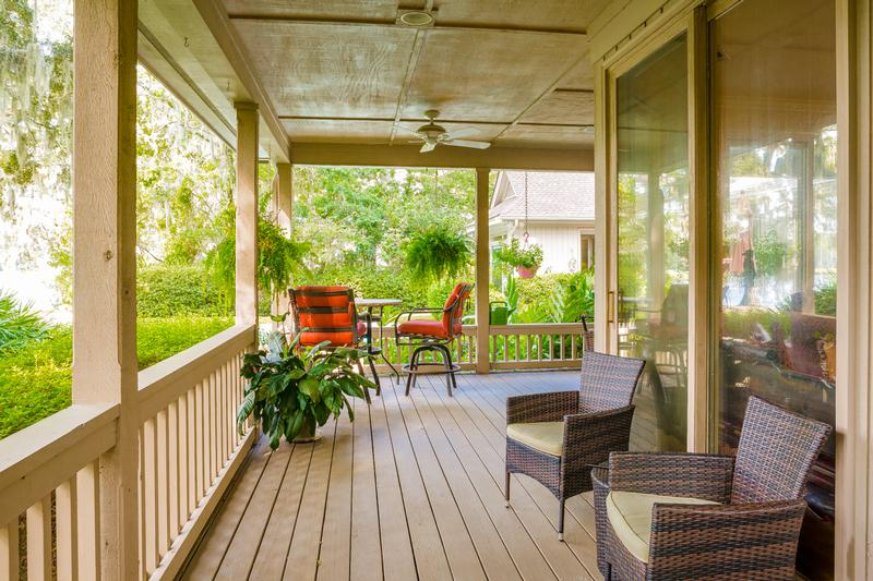 Sip sweet tea and relax on your screened in porch wile taking in the serene lagoon view.