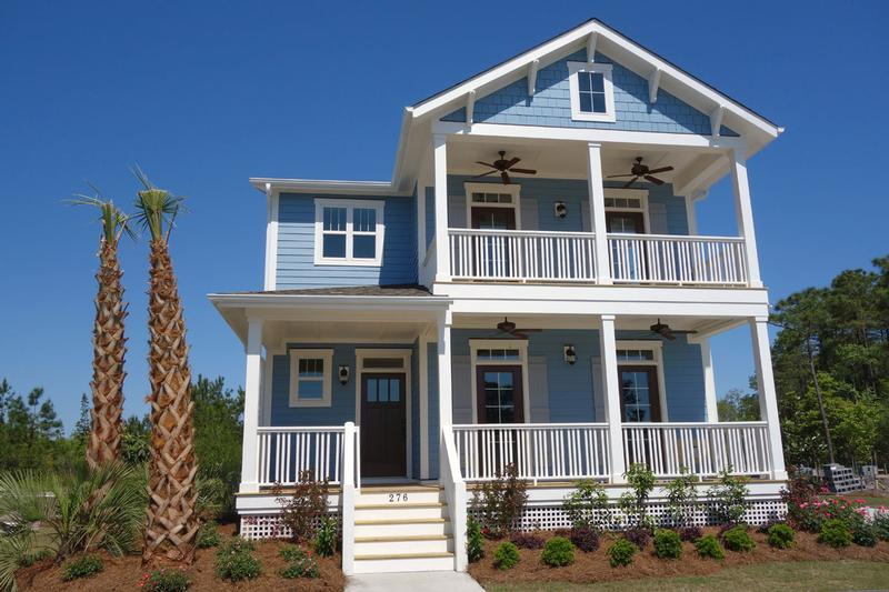 Leland north carolina luxury home the tidewater cottage for Tidewater style homes