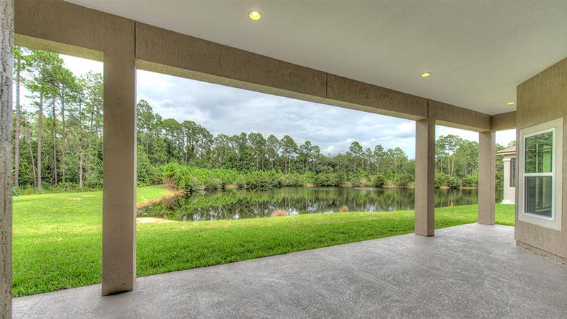 Lake view from covered lanai