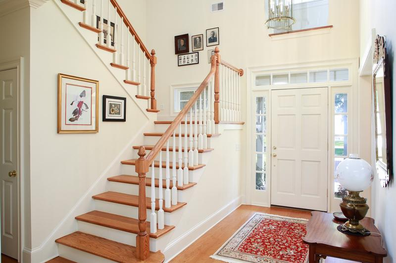 Double height foyer welcomes you home
