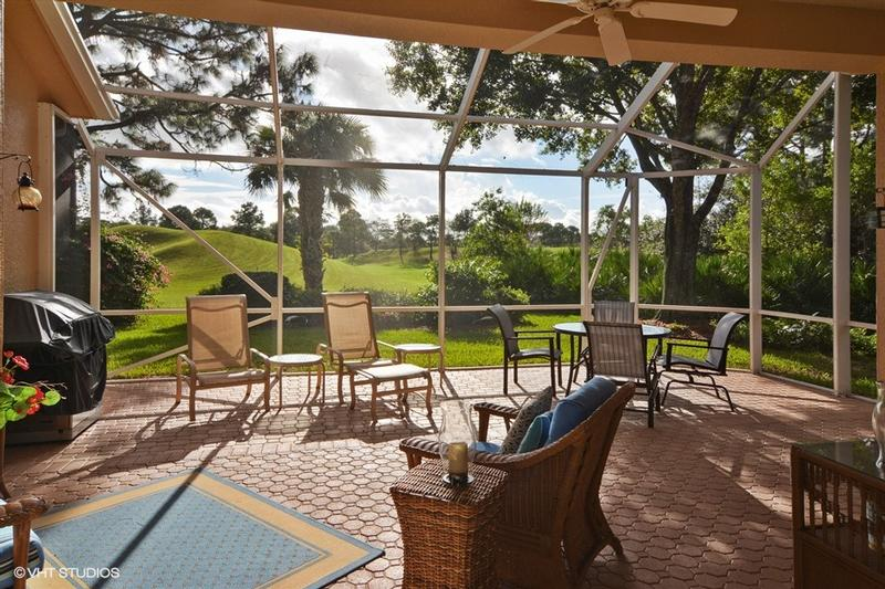 Lanai with Extended Screened Patio