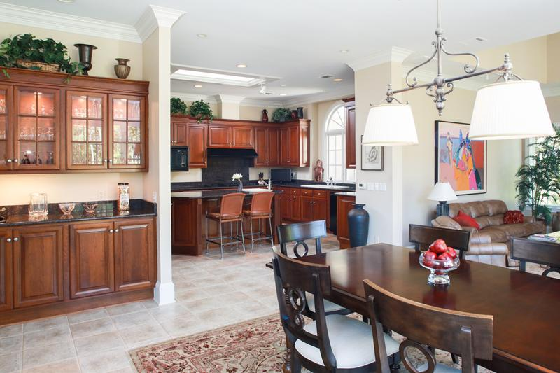 Enjoy the large chef's kitchen with island open to a wonderful casual DR and family room.