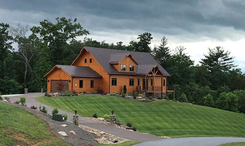 Custom TimberBlock home