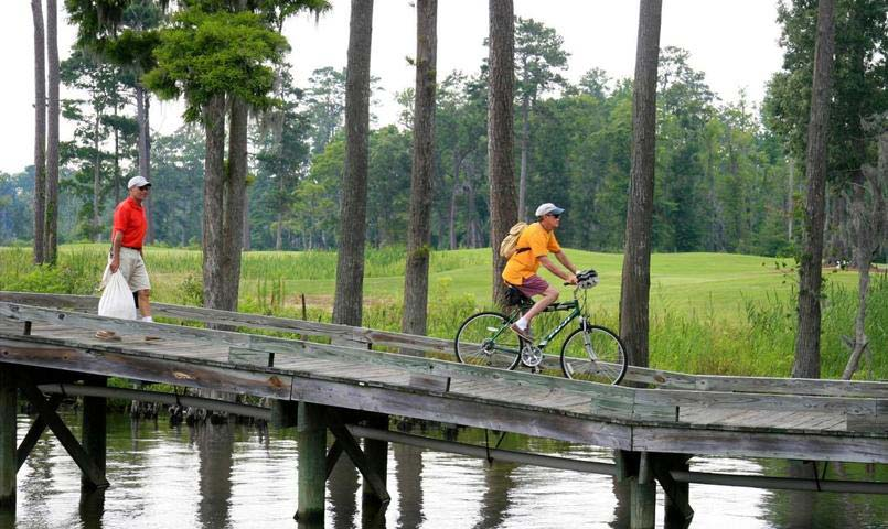 There are plenty of opportunities for biking and hiking the community's network of trails.