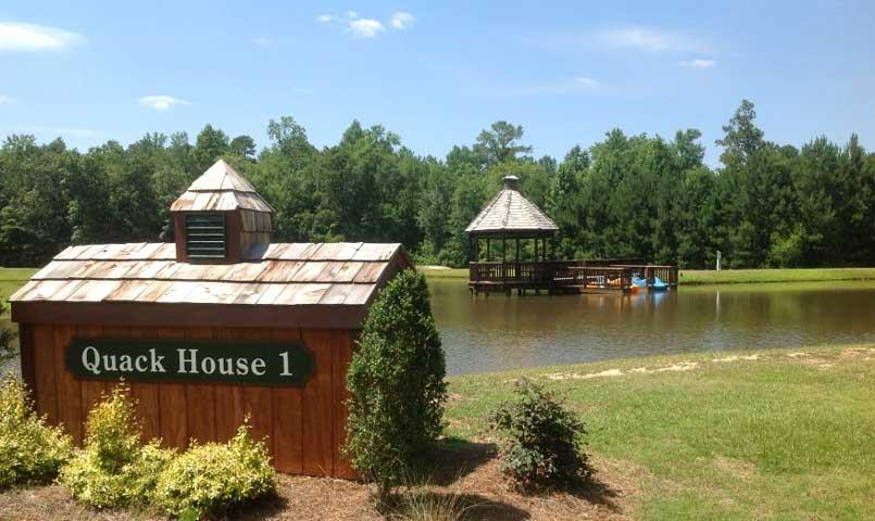 Anderson Creek Club features 26 stocked ponds within the community with canoes and paddleboats for relaxation. A freshwater fisherman's delight!