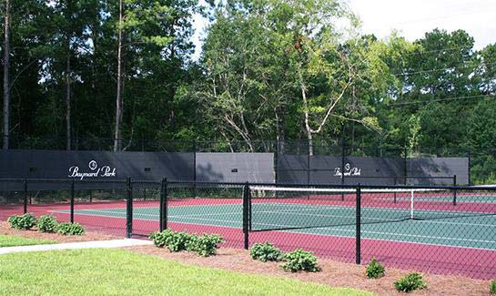 The tennis courts at Baynard Park