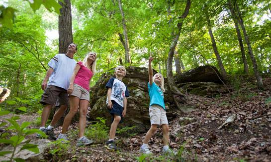 It's easy to enjoy nature in the Natural State. Residents of all ages can choose from four diverse and scenic walking/nature trails.