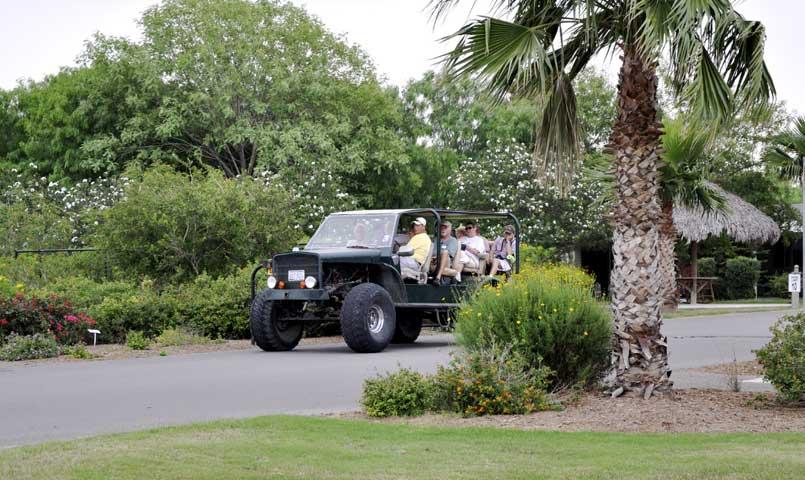 Jeep tour at Bentsen Palm community in Mission, TX