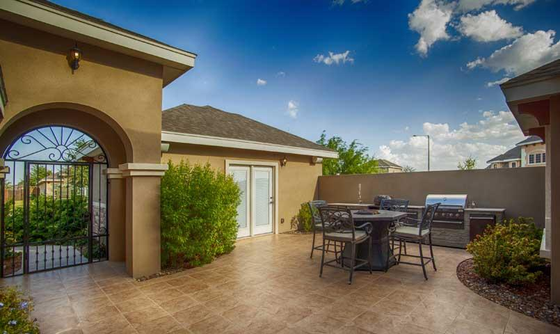 Grill area of home for sale at Bentsen Palm community in Mission, TX