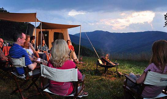 Camping is a popular activity among residents of Blue Ridge Mountain Club