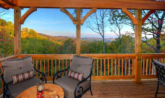 Mountain view from the Watson Gap Cottage model home in Blue Ridge Mountain Club