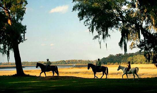 Trail riding opportunities abound at Brays Island Plantation.
