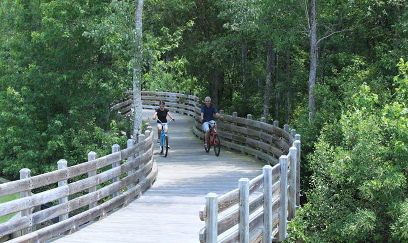 Residents of Brunswick Forest benefit from over 100 miles of established walking, biking and nature trails.