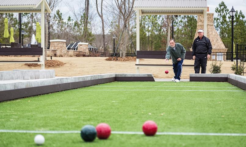 Carolina Arbors bocce courts