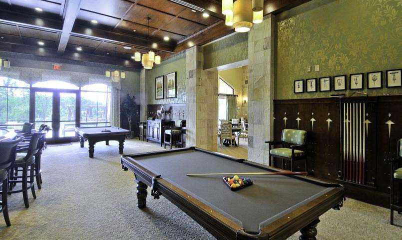 The Clubhouse Billard Room at Celebrate by Del Webb