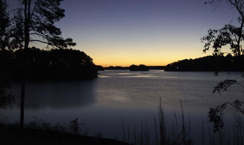 Much of the 300 miles of Lake Keowee pristine shoreline are natural and untouched.