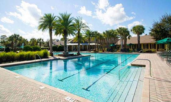 Cresswind at Victoria Gardens Aquatic Center with resort-style pool, spa and poolside cabanas
