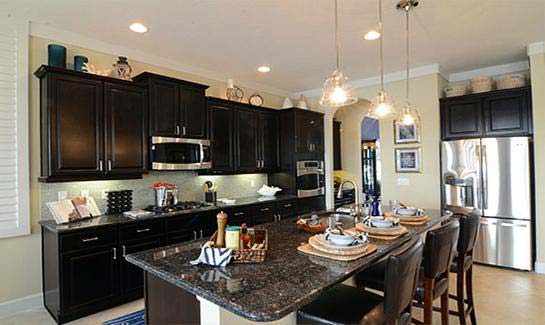 Aster Model Kitchen by Kolter Homes at Cresswind at Victoria Gardens