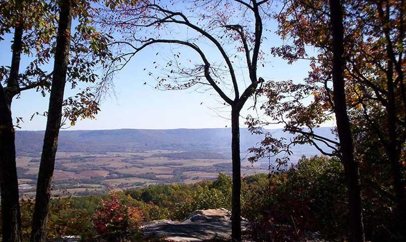 Many lots offer long range views of the Cumberland Plateau.