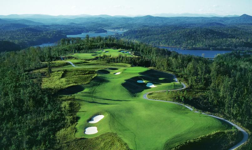 Currahee Club's golf course features 360-degree, panoramic views of Lake Hartwell and the surrounding Blue Ridge Mountains.