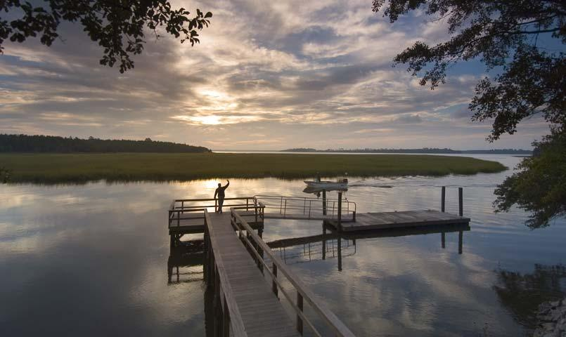 Daniel Island boasts 23 miles of shoreline, offering residents access to boating, fishing, swimming, crabbing and other aquatic pursuits.