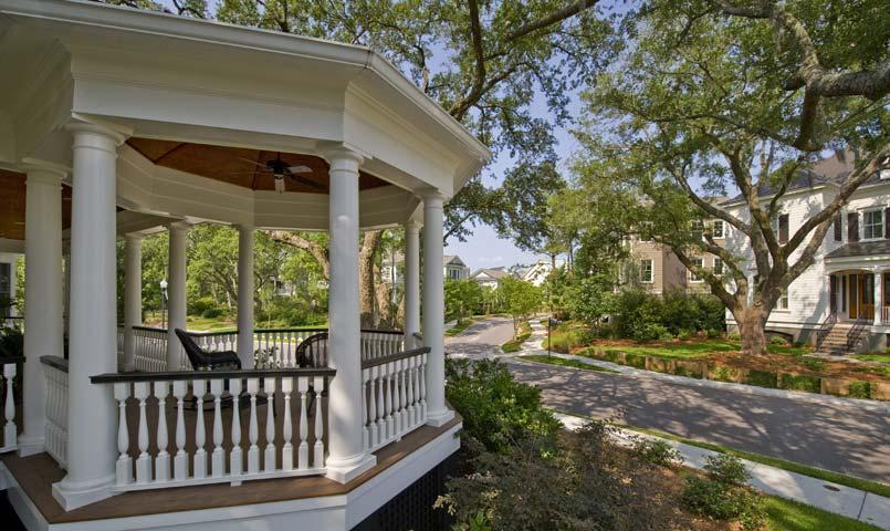 Traditional neighborhoods feature homes with southern architecture, porches and lots of opportunities for outdoor living.