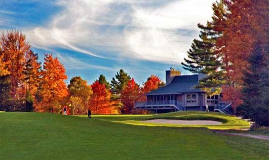 18th Hole and Clubhouse at Eastman Golf Links