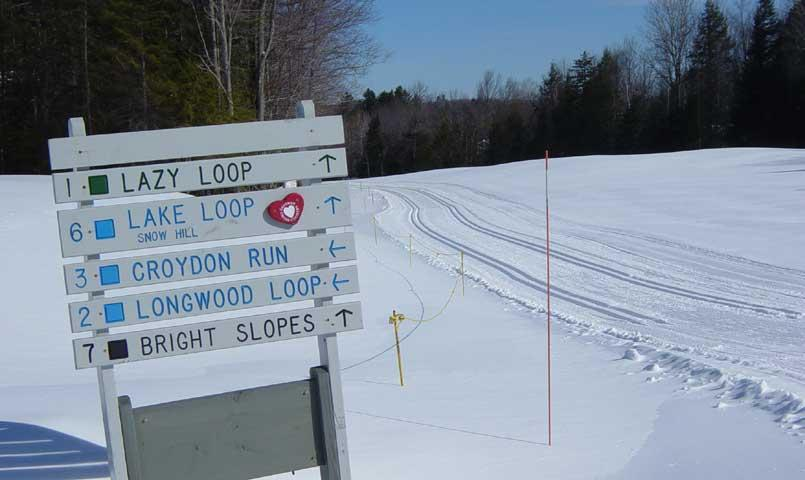 More than 36K of trails are available for cross country skiing and snowshoeing