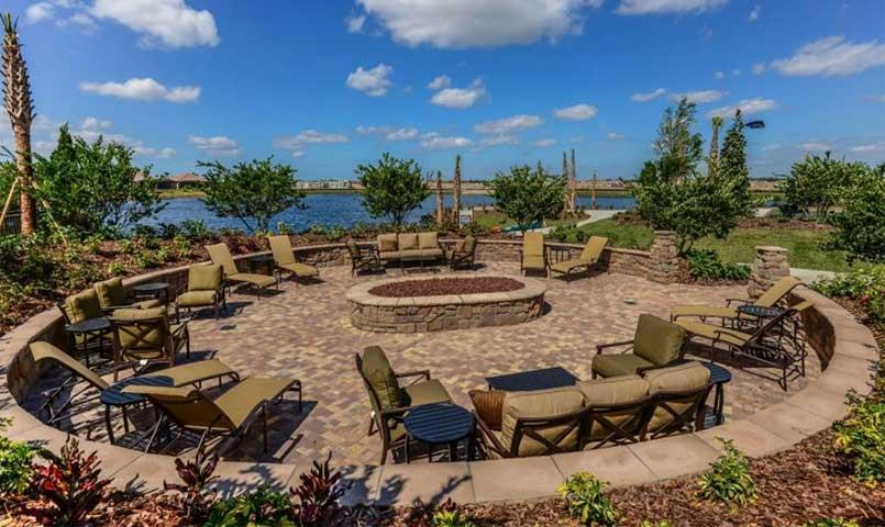 Esplanade at Lakewood Ranch fire pit