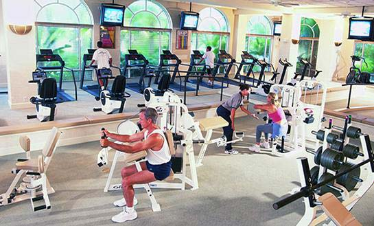 The Club & Spa Fitness Center provides a wide variety of equipment to meet the demands of any workout.