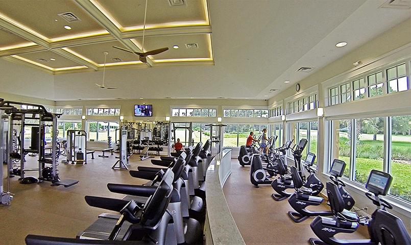 The Fitness & Spa Center is state-of-the-art with licensed personal trainers on staff.
