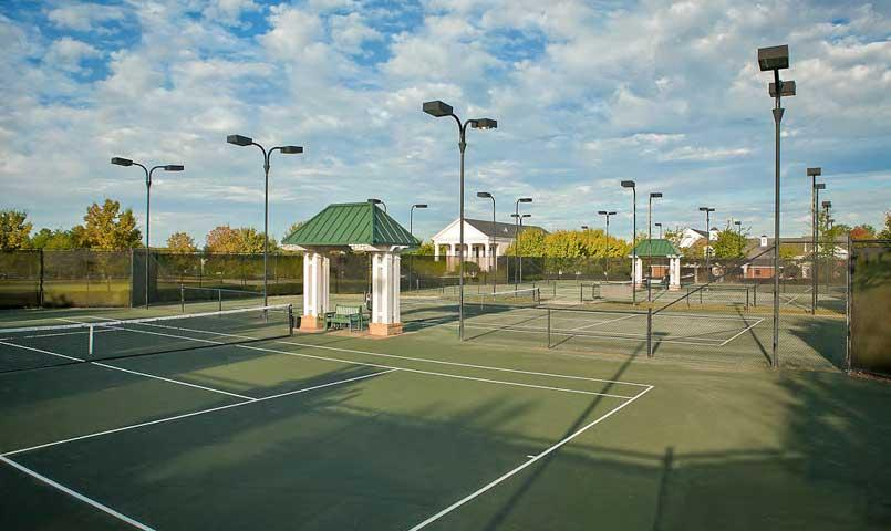 Sports Complex includes six clay tennis courts with lights and an underground irrigation system.