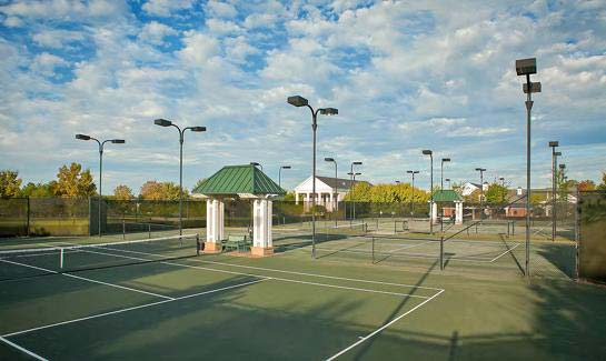 Sports Complex includes with six clay tennis courts with lights and an underground irrigation system.