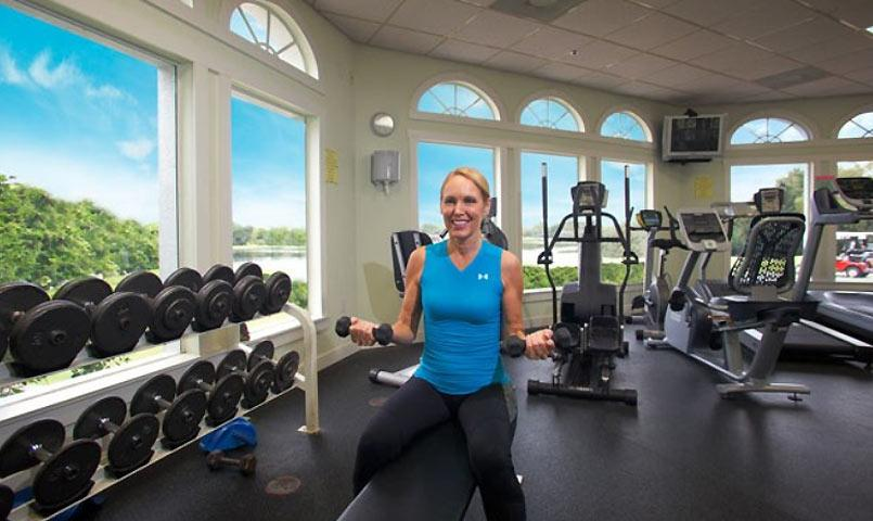 Private fitness center at GlenLakes