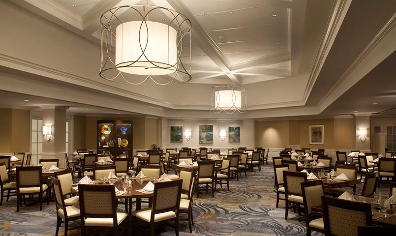 Gleneagles clubhouse dining room