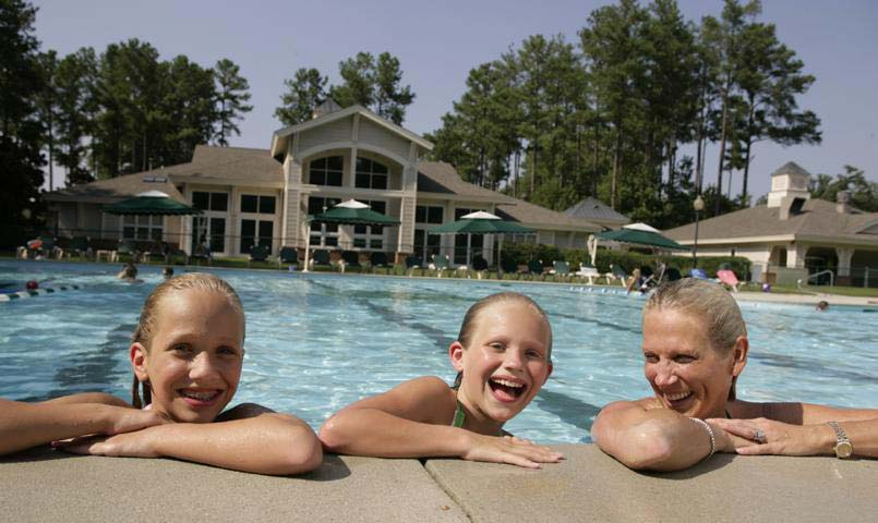 Aquatic facilities include a year round indoor pool, plus an outdoor pool, and a kid's play pool with splash zone