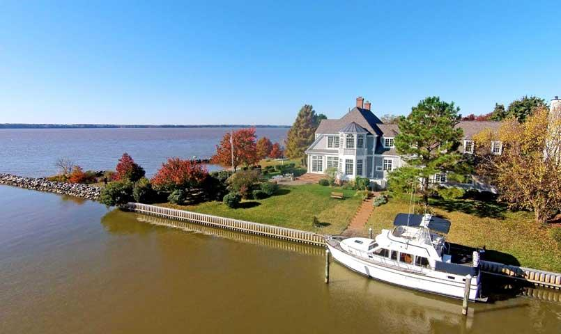 Marina Village properties back directly to the marina and include 40-foot bulkhead slips and views of the James River.
