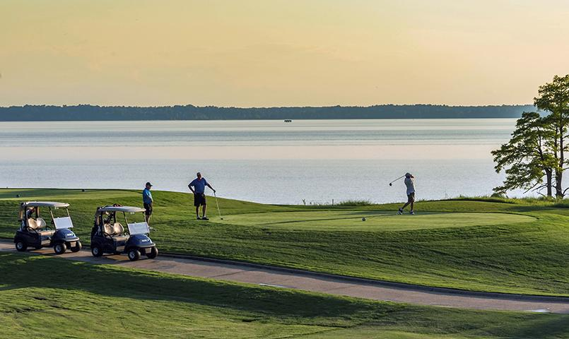 The private riverfront Tom Fazio designed golf course is ranked by <I>Golf Digest</I> as one of the Top 10 in Virginia.