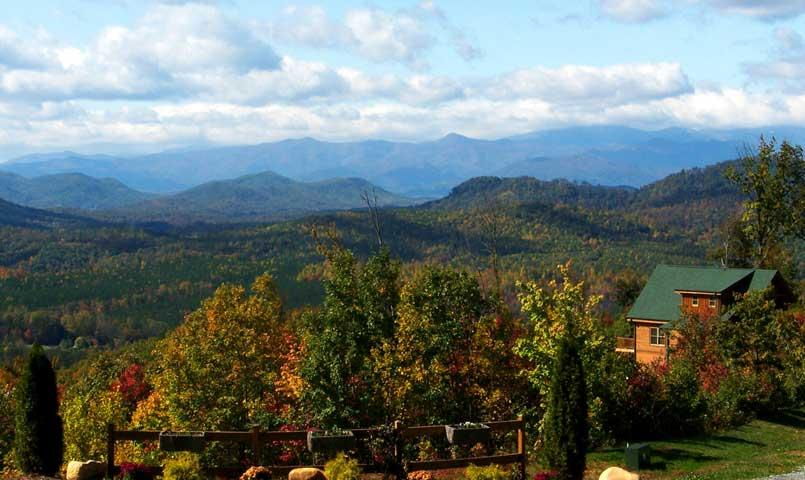 Grandview Peaks offers affordable mountain property for sale in the Blue Ridge Mountains of western North Carolina.