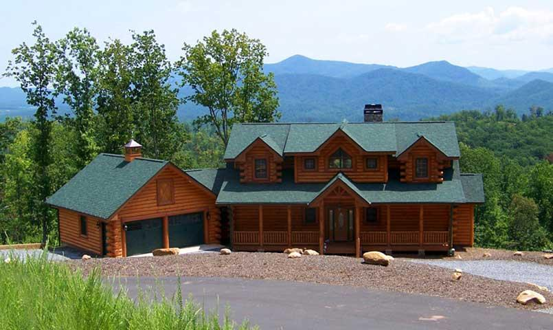Log & Timber style homes complement the natural beauty at Grandview Peaks.