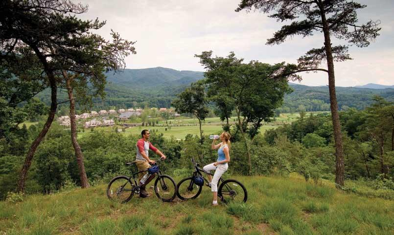 The Greenbrier resort amenities include carriage rides, mountain biking, off-road driving, gun club, Alpine climbing tower and more.