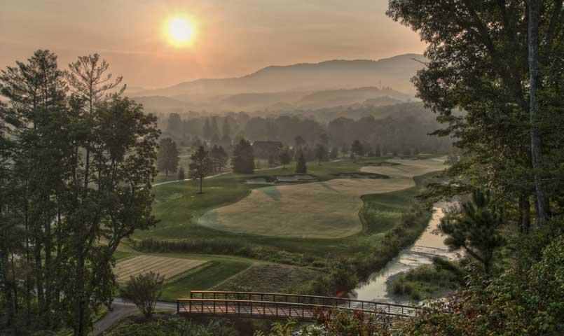 Surrounded by three scenic mountains, The Snead is a private members-only golf course designed by Tom Fazio at The Greenbrier Sporting Club