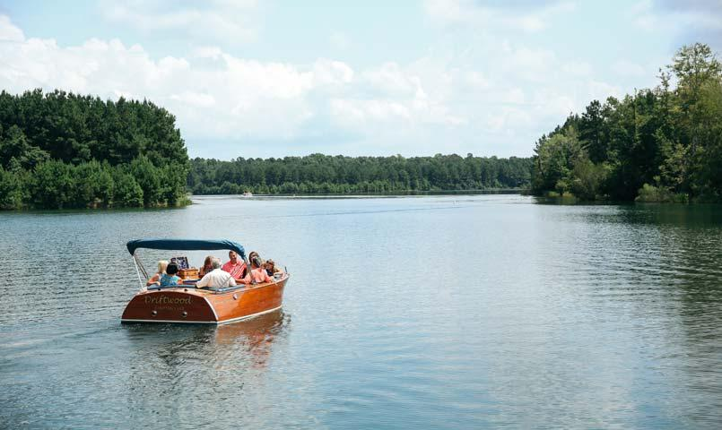 Boat rentals are available through Doc's Boathouse at Hampton Lake