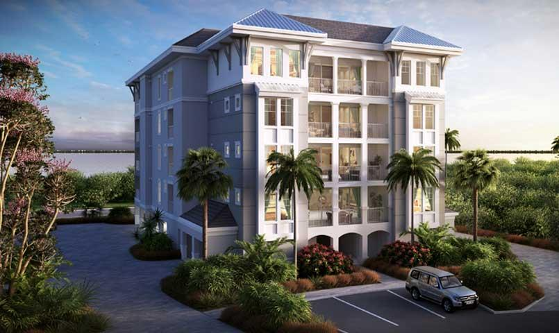 All-new collection of low-maintenance resort villas at Harbour Isle on Anna Maria Sound.