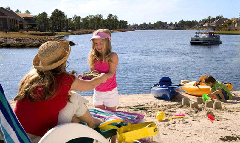 The Lake Club beach at Hilton Head Lakes