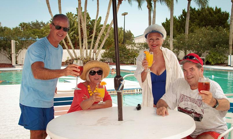 Residents of Indian River Colony Club can relax and enjoy the 3,000 sq ft heated pool