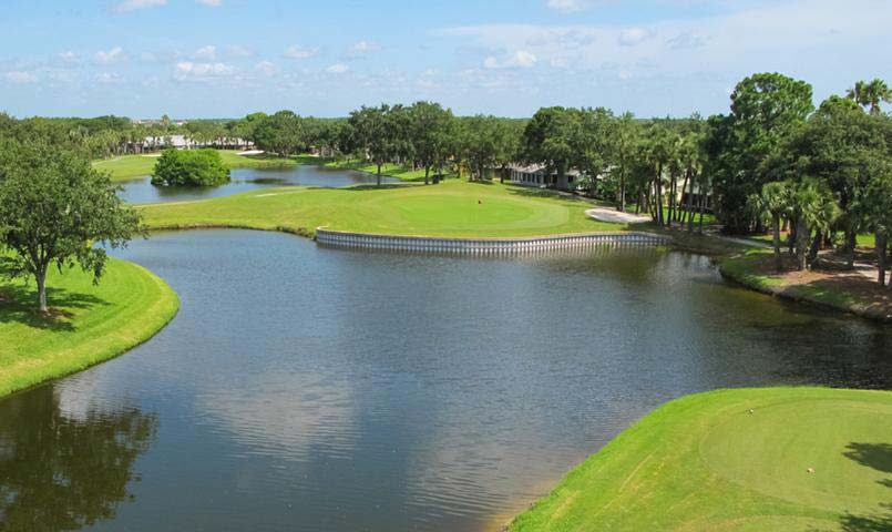A well-maintained, 18-hole, par 72, private golf course with Pro Shop, aqua driving range, 2 putting greens and practice bunkers.